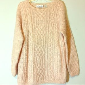 Vintage 80s Oversized Cable Knit Sweater Slouchy